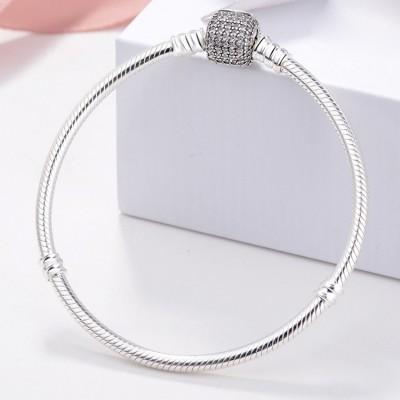 Pave Crystal - Schließe Armbänder Sterling Silber