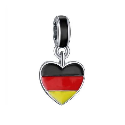 Deutsche Flagge Charm Sterling Silber