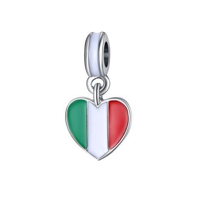 Italienischer Flag Charm Sterling Silber