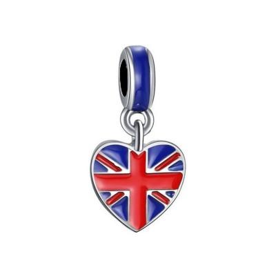 Britischer Flaggen-Anhänger Sterling Silber