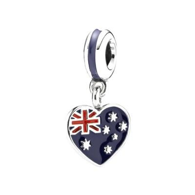 Australian Flag Charm Sterling Silber