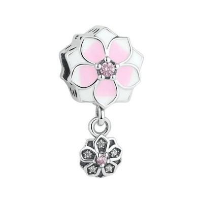 Blumen Charm Sterling Silber