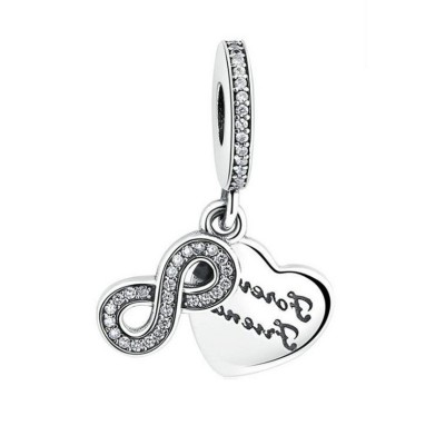 Infinity Charm Sterling Silber
