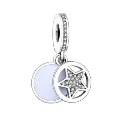 Stern Charm Sterling Silber