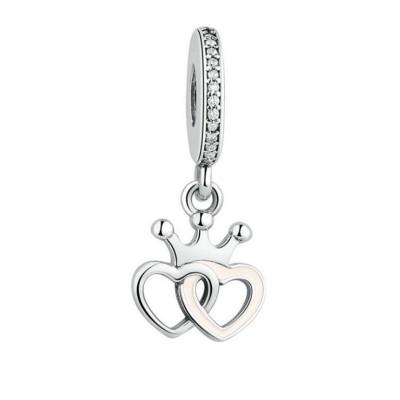 Herz zu Herz Charm Sterling Silber