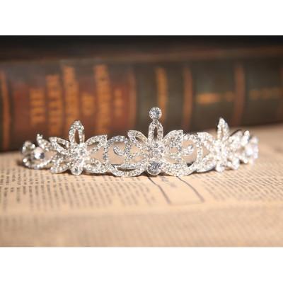 Wunderschöne klare Kristalle Blumen Hochzeit Kopfschmuck